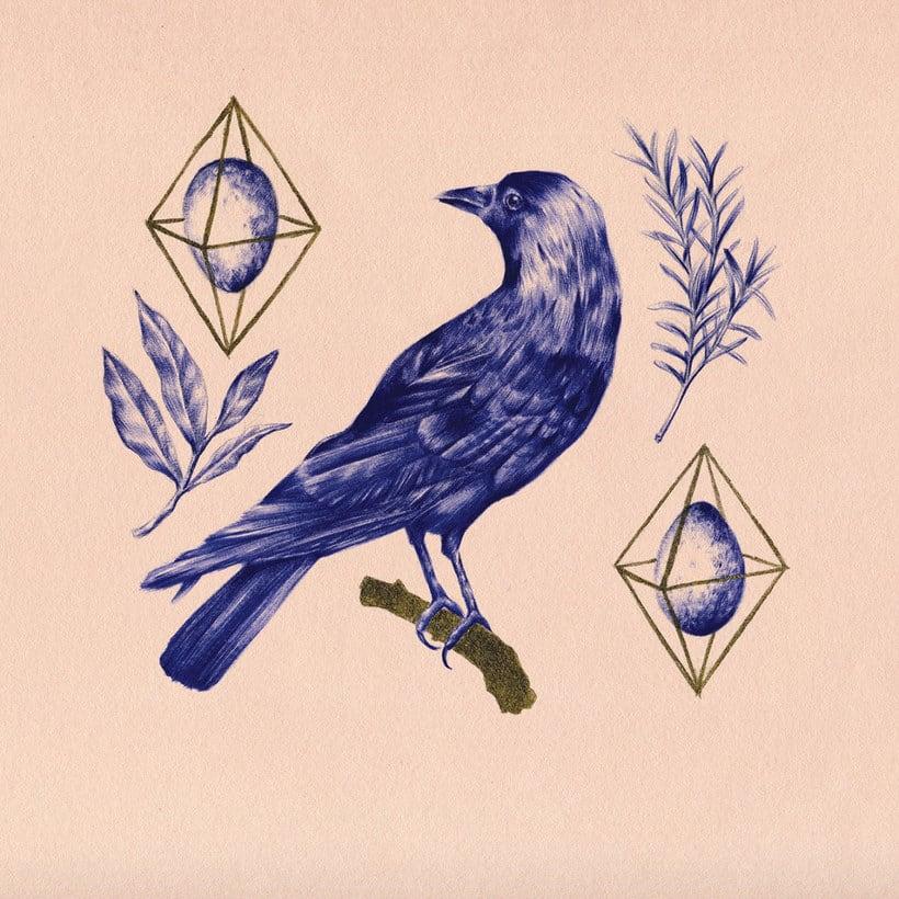 Las ilustraciones de Nuria Riaza se tiñen de azul 7
