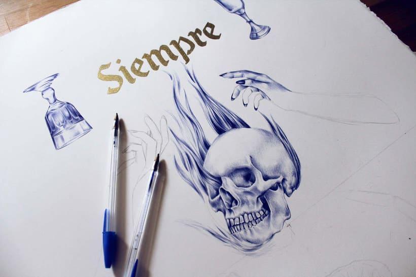 Las ilustraciones de Nuria Riaza se tiñen de azul 10