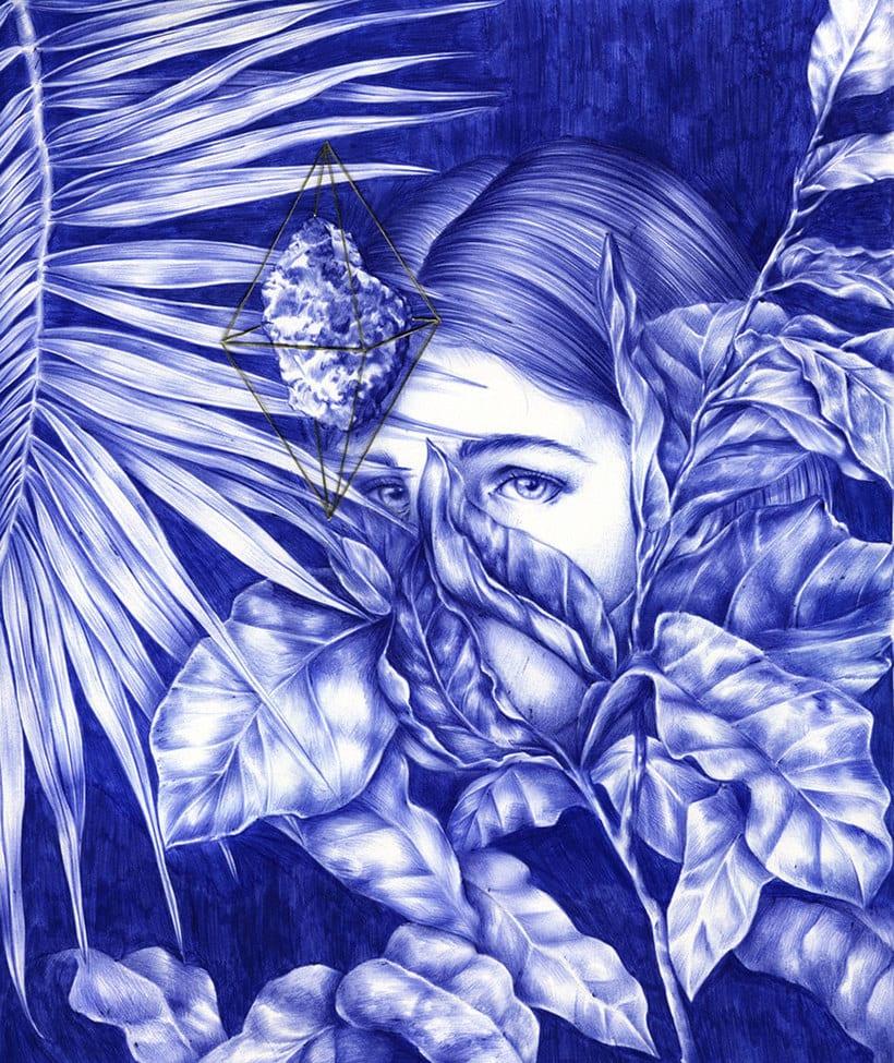 Las ilustraciones de Nuria Riaza se tiñen de azul 11