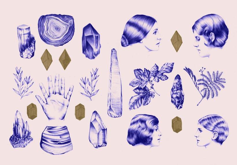 Las ilustraciones de Nuria Riaza se tiñen de azul 12