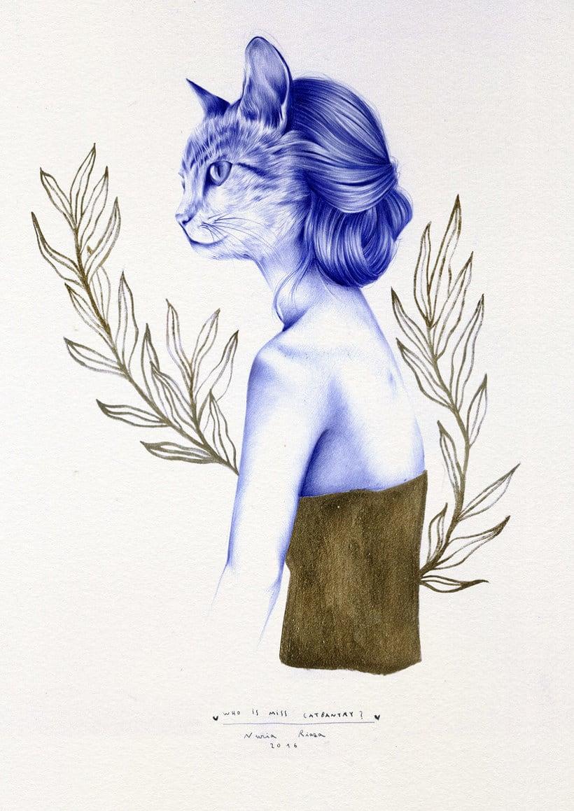 Las ilustraciones de Nuria Riaza se tiñen de azul 13