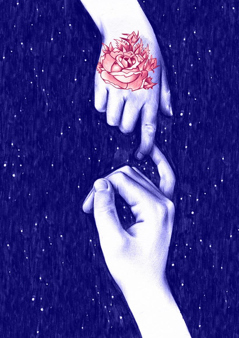 Las ilustraciones de Nuria Riaza se tiñen de azul 14