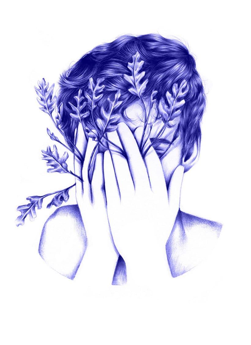 Las ilustraciones de Nuria Riaza se tiñen de azul 16