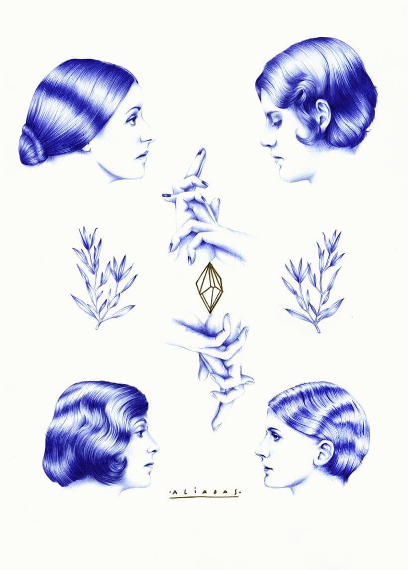 Las ilustraciones de Nuria Riaza se tiñen de azul 17