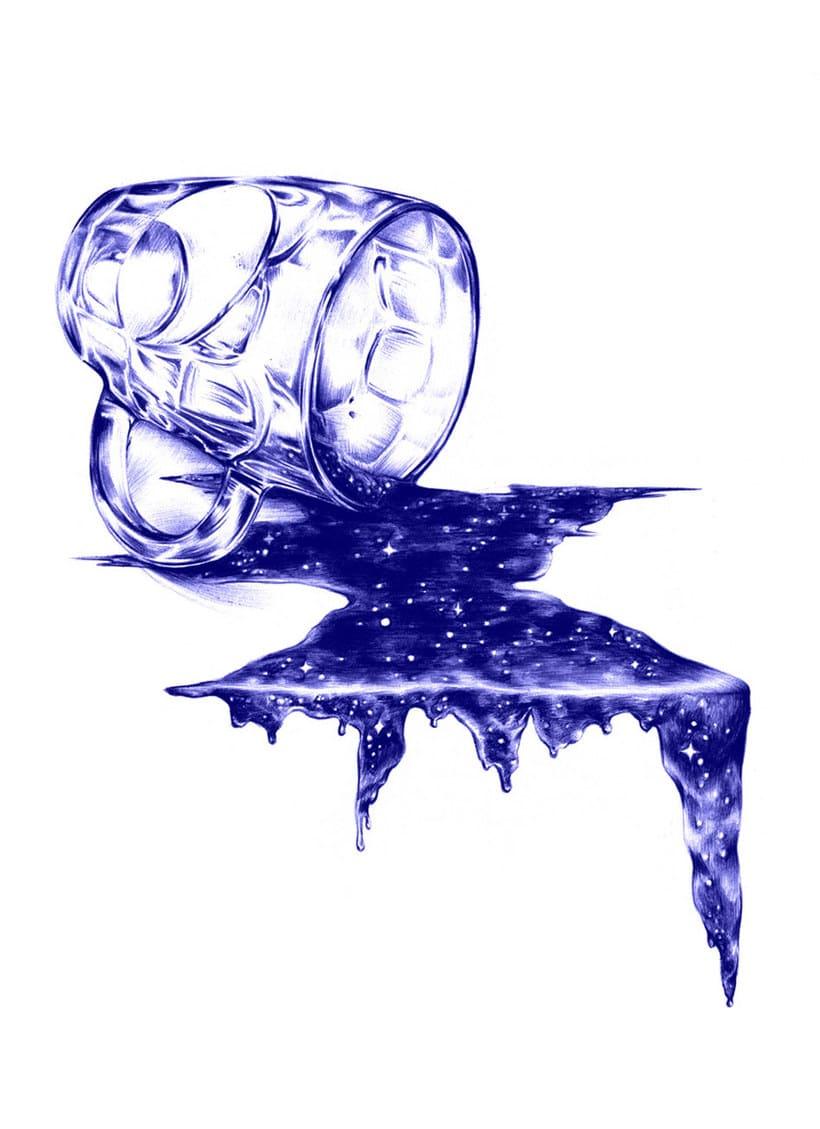 Las ilustraciones de Nuria Riaza se tiñen de azul 18