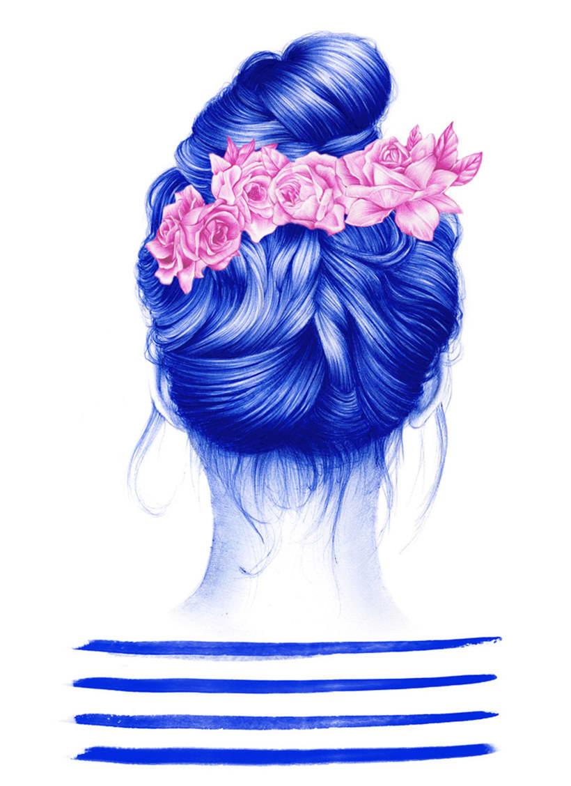 Las ilustraciones de Nuria Riaza se tiñen de azul 19