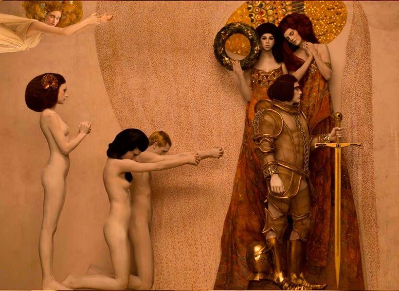 La obra de Gustav Klimt recreada en fotografías 10