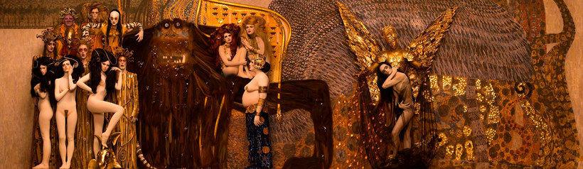 La obra de Gustav Klimt recreada en fotografías 12