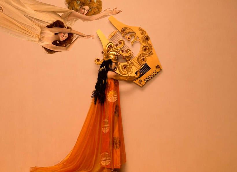 La obra de Gustav Klimt recreada en fotografías 13