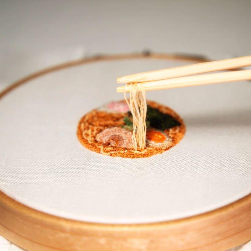 Los microbordados gastronómicos de Ipnot 3