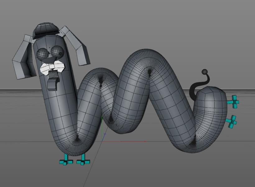 Morthimer, el perro salchicha ( Proyecto del curso: Lettering 3D de @zigor ) 8