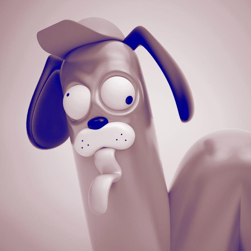 Morthimer, el perro salchicha ( Proyecto del curso: Lettering 3D de @zigor ) 3