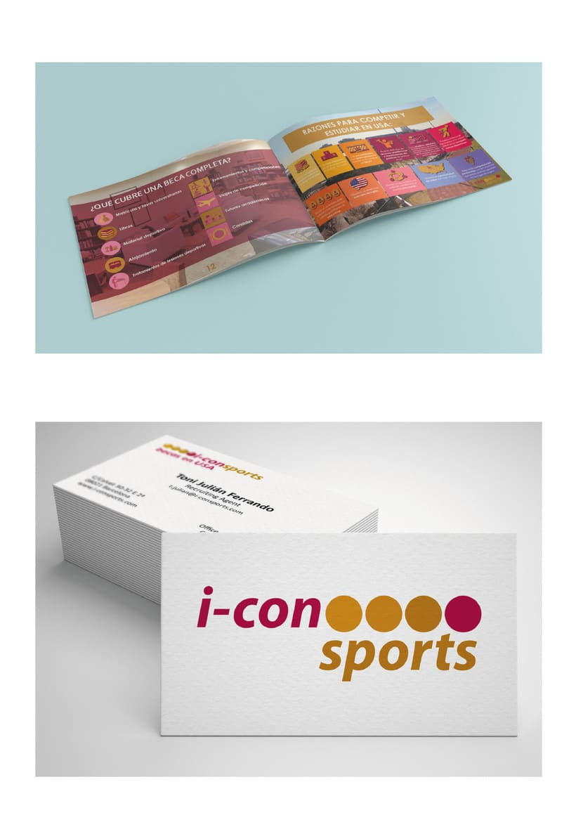 Sport Brochure, I-Con Sports, Becas en USA. 1