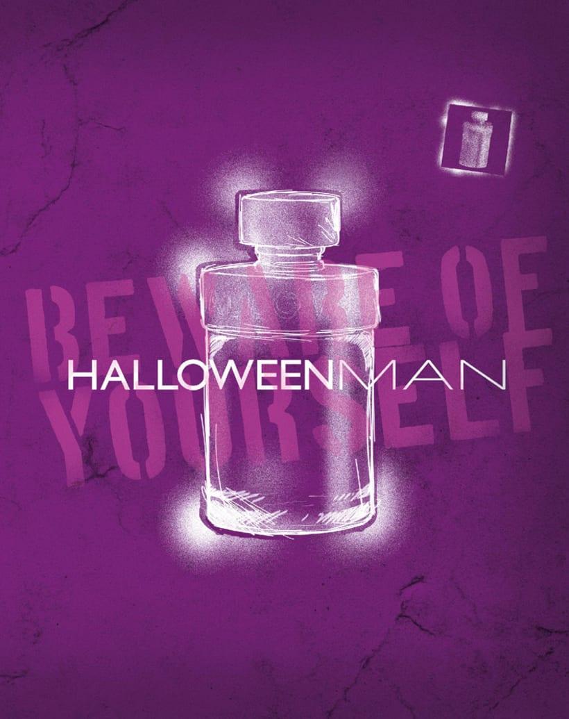 Diseño - perfume HALLOWEEN MAN 0