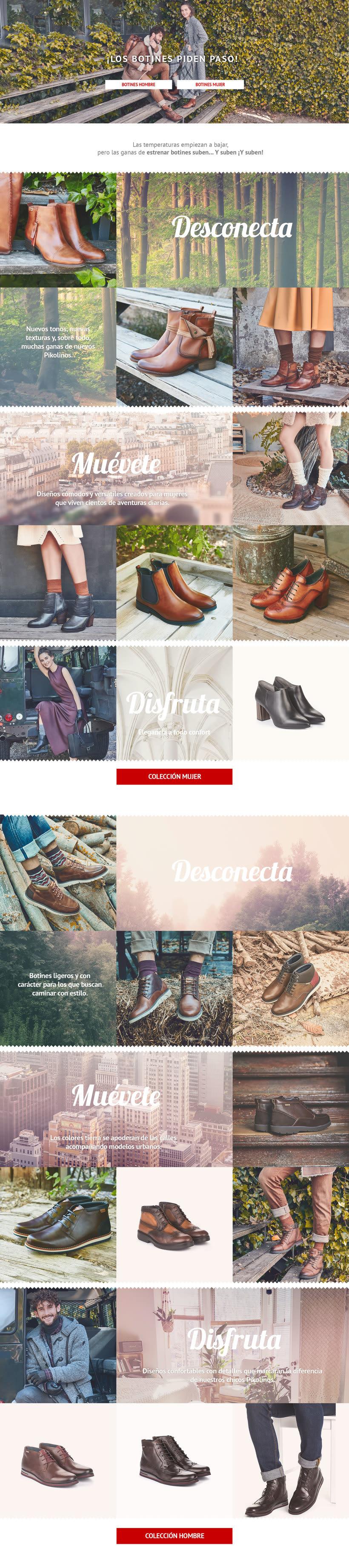 """Diseño de Lookbook A/W17 para """"botas y botines"""" de Pikolinos -1"""