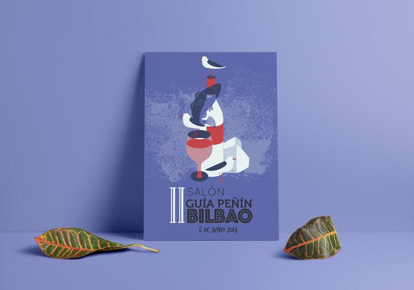 Propuesta de cartel para el II Salón del vino en Bilbao -1