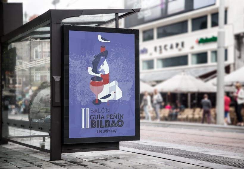 Propuesta de cartel para el II Salón del vino en Bilbao 0
