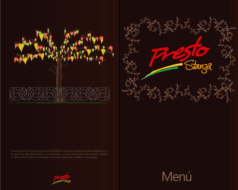 Diseño publicitario y branding para Hamburguesas premium Presto Stanza -1
