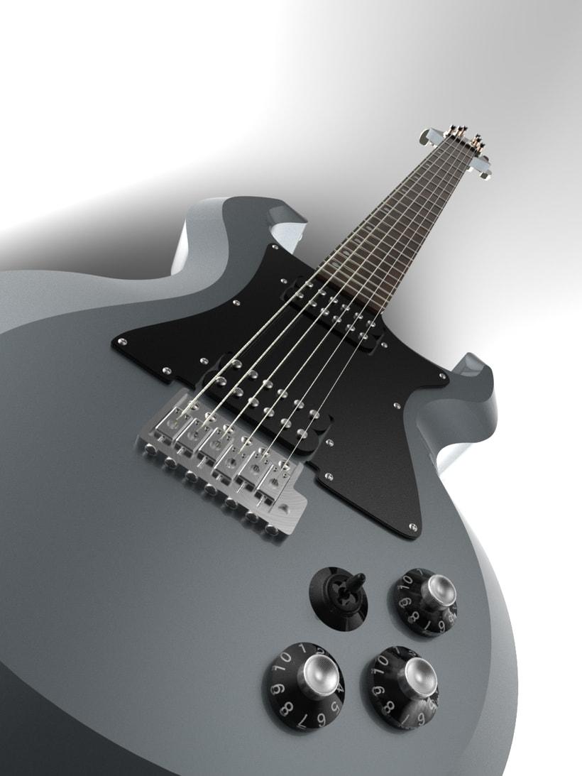 """Diseño original de guitarra """"El Toro"""" 5"""