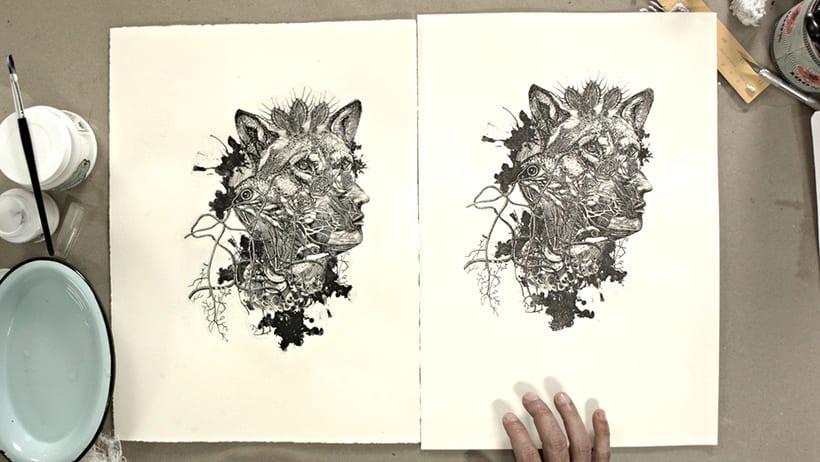 Mi Proyecto del curso: Técnicas experimentales de ilustración: de lo digital a lo artesanal 8