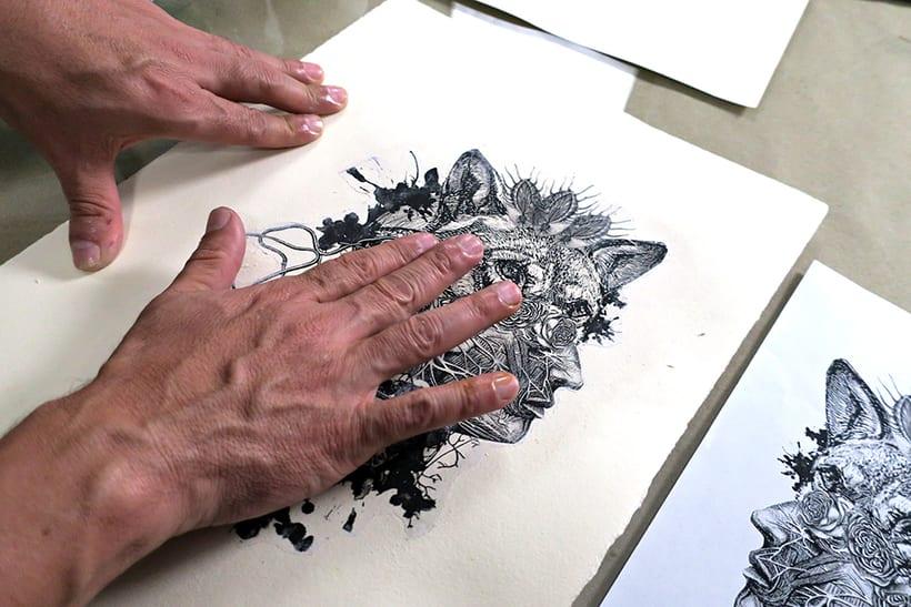 Mi Proyecto del curso: Técnicas experimentales de ilustración: de lo digital a lo artesanal 9