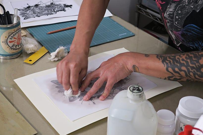 Mi Proyecto del curso: Técnicas experimentales de ilustración: de lo digital a lo artesanal 11