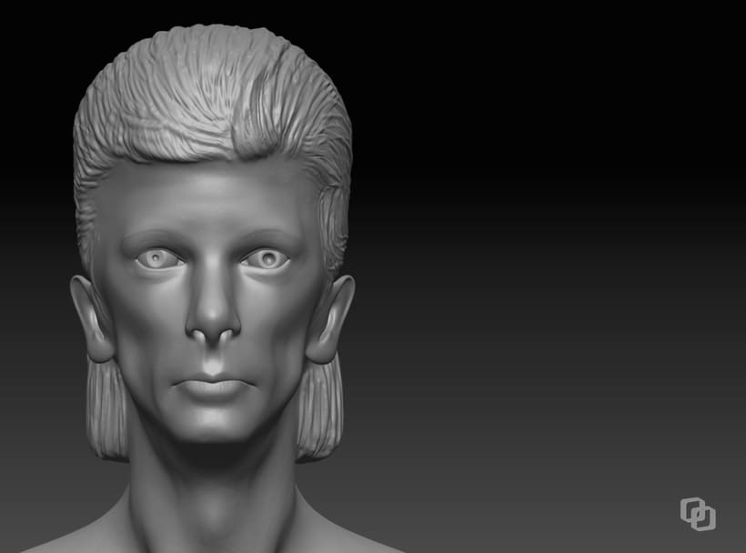 David Bowie & David Lynch - Mi Proyecto del curso: Modelado realista con ZBrush 0
