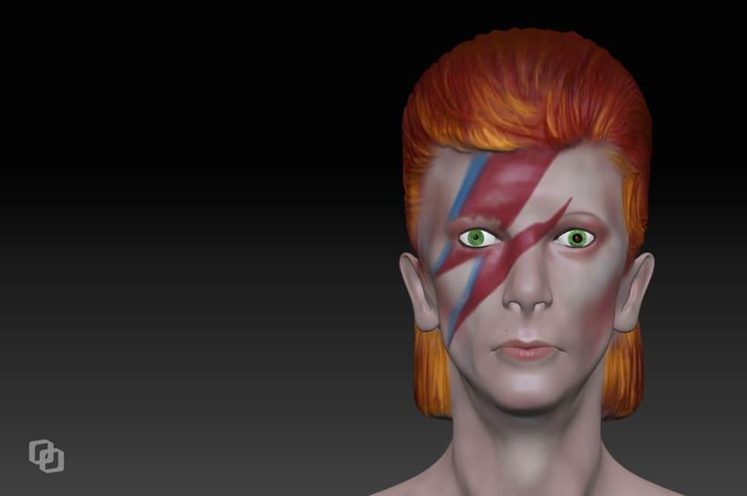 David Bowie & David Lynch - Mi Proyecto del curso: Modelado realista con ZBrush 1