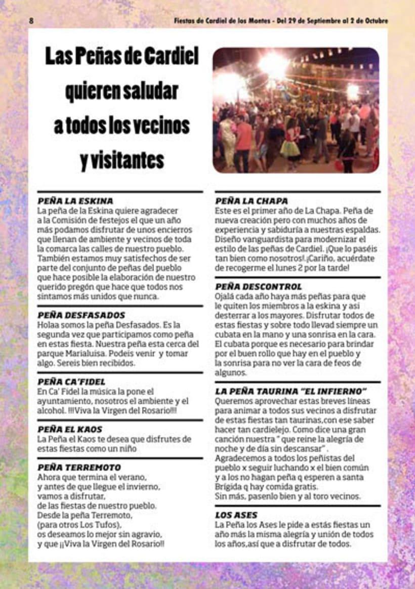 Diseño y Maquetación del programa de fiestas de Cardiel de los Montes 2017 4