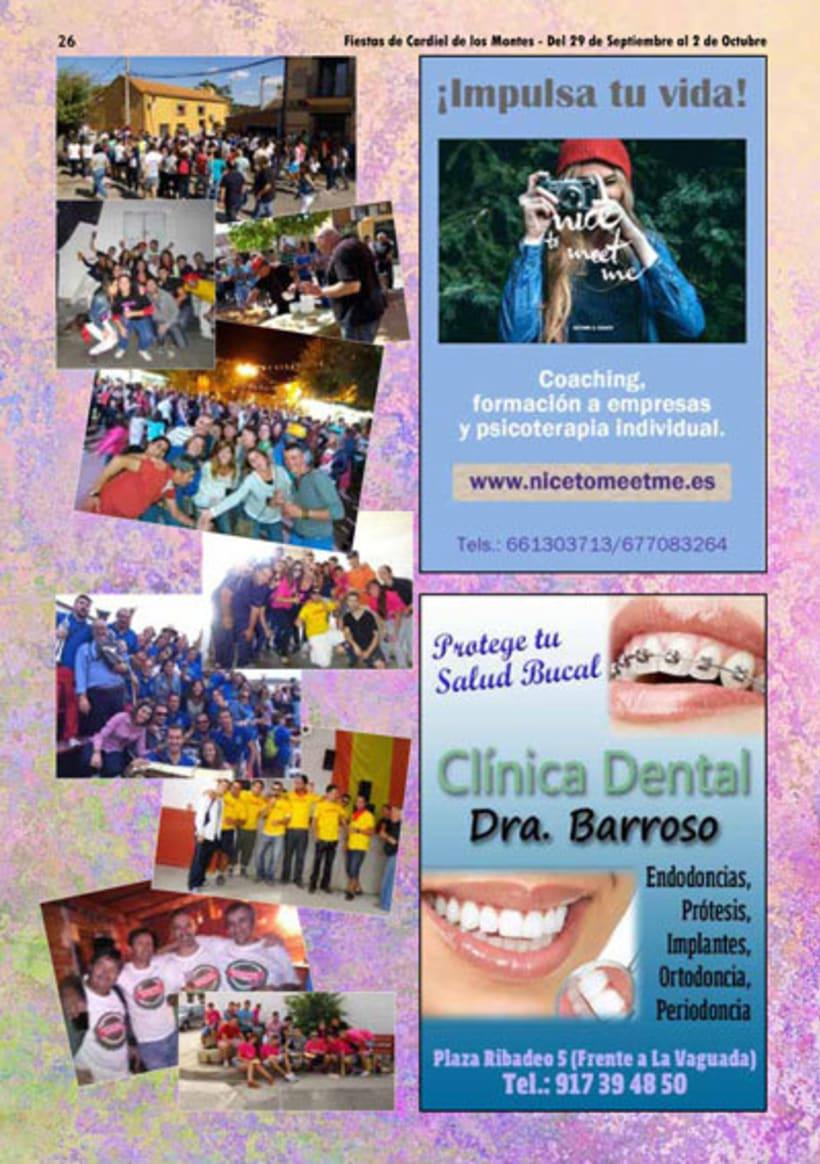 Diseño y Maquetación del programa de fiestas de Cardiel de los Montes 2017 14
