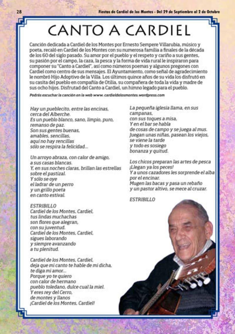 Diseño y Maquetación del programa de fiestas de Cardiel de los Montes 2017 16