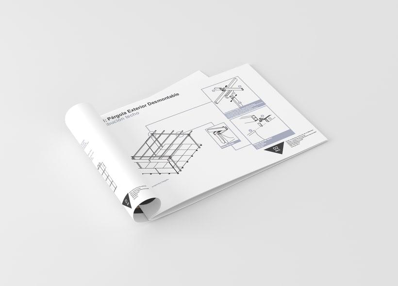 Diseño constructivo // Folleto // Diseño de interiores //  ESD -1