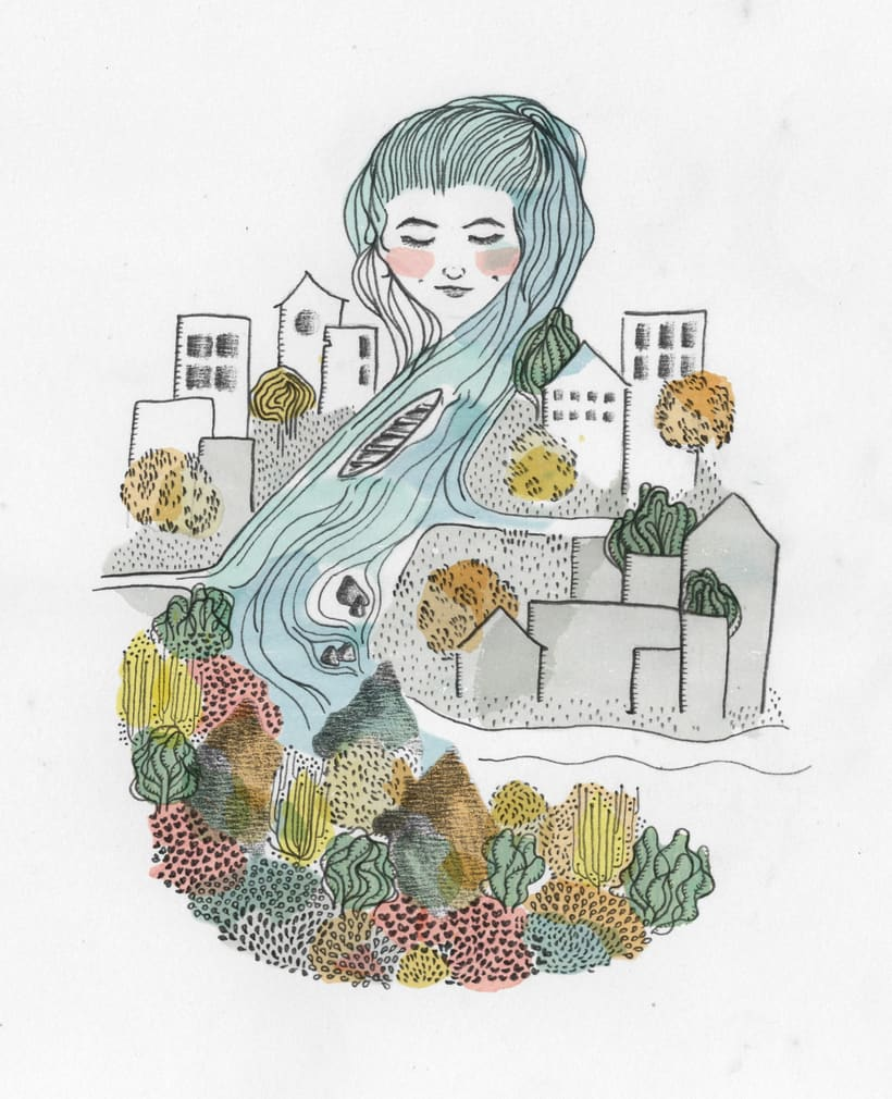 Ilustración para el libro Canción de los Días por Viajar 0