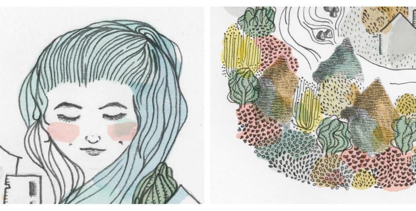 Ilustración para el libro Canción de los Días por Viajar 1