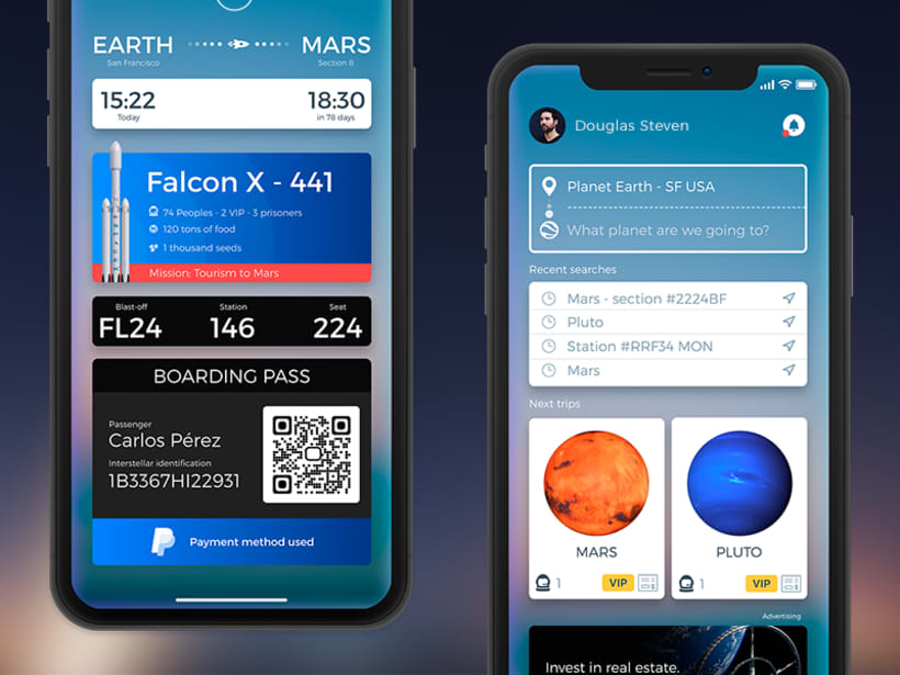 Space X in iPhone X Nuevo proyecto -1