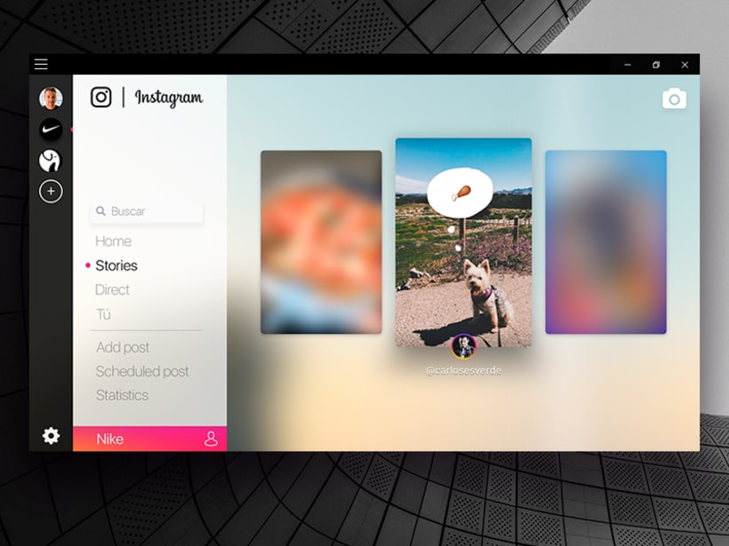 Instagram concept for windows 10 -1