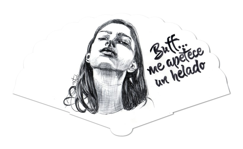Abanicos ilustrados -1