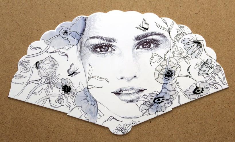 Abanicos ilustrados 1