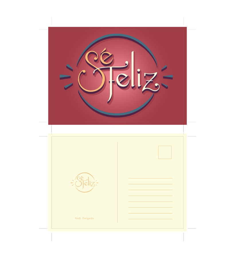 + Sé Feliz + Mi proyecto de Secretos Dorados del Lettering. 3