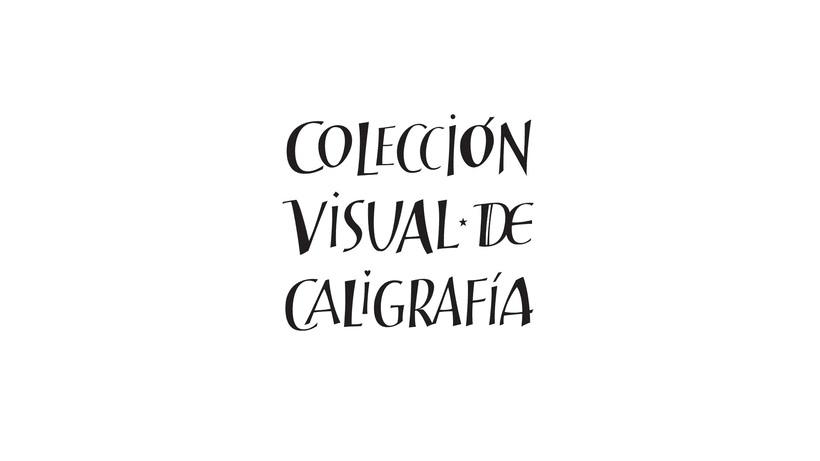 Colección Visual de Caligrafía, libros de caligrafía 0