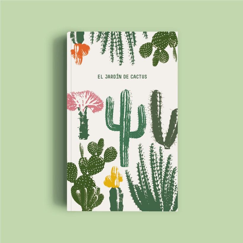 Diseño portada El jardín de cactus -1