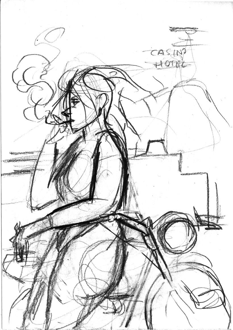 Mi Proyecto del curso: Ilustración original de tu puño y tableta. Canción: Planet Caravan 0