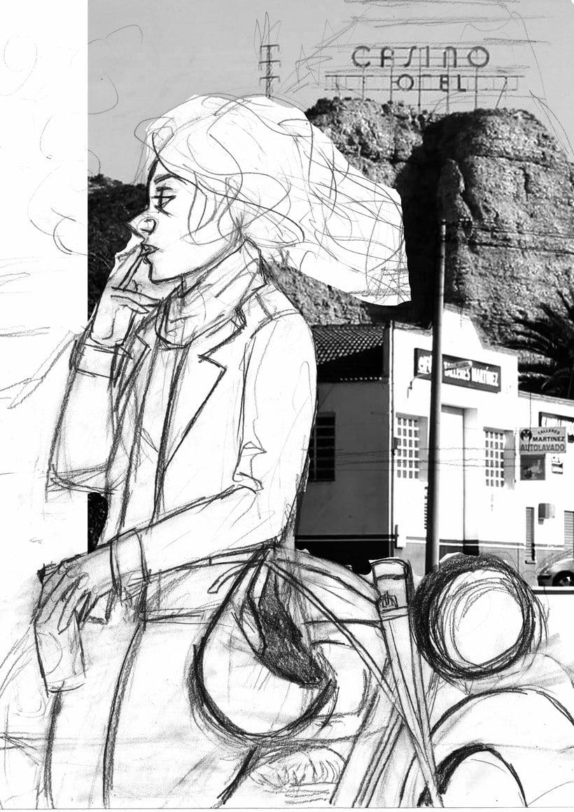 Mi Proyecto del curso: Ilustración original de tu puño y tableta. Canción: Planet Caravan 2