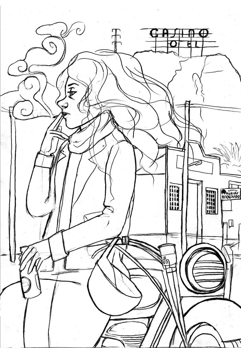 Mi Proyecto del curso: Ilustración original de tu puño y tableta. Canción: Planet Caravan 3