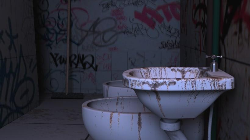 Baño descuidado - #Maya # Arnold# 0