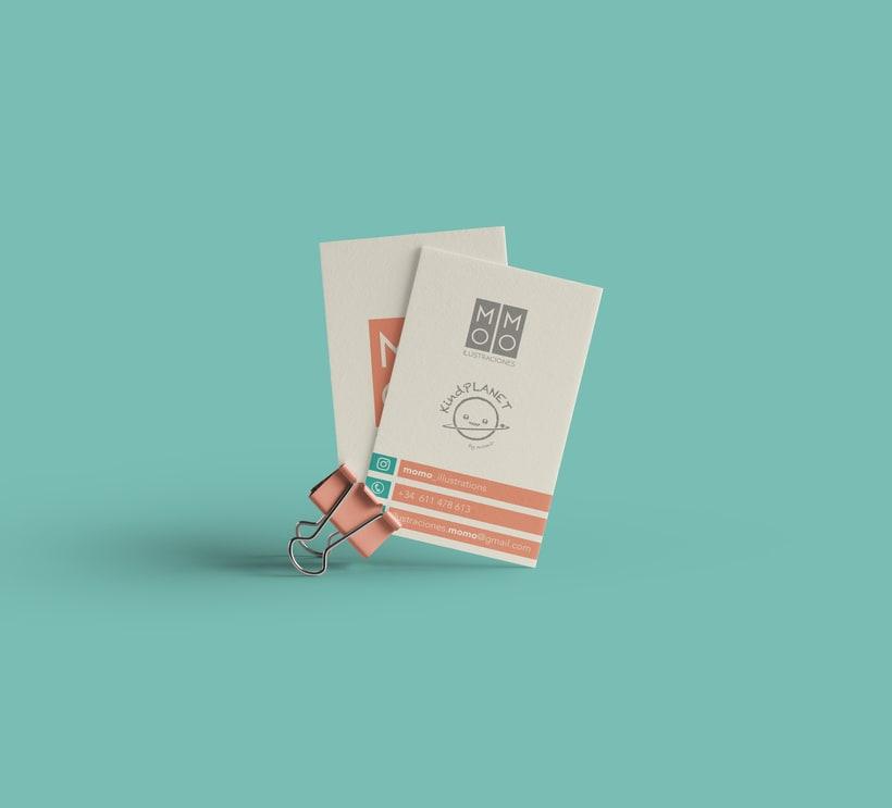 Imagen corporativa para MOMO Ilustraciones, ilustración editorial. 1