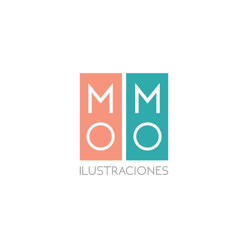 Imagen corporativa para MOMO Ilustraciones, ilustración editorial. 2
