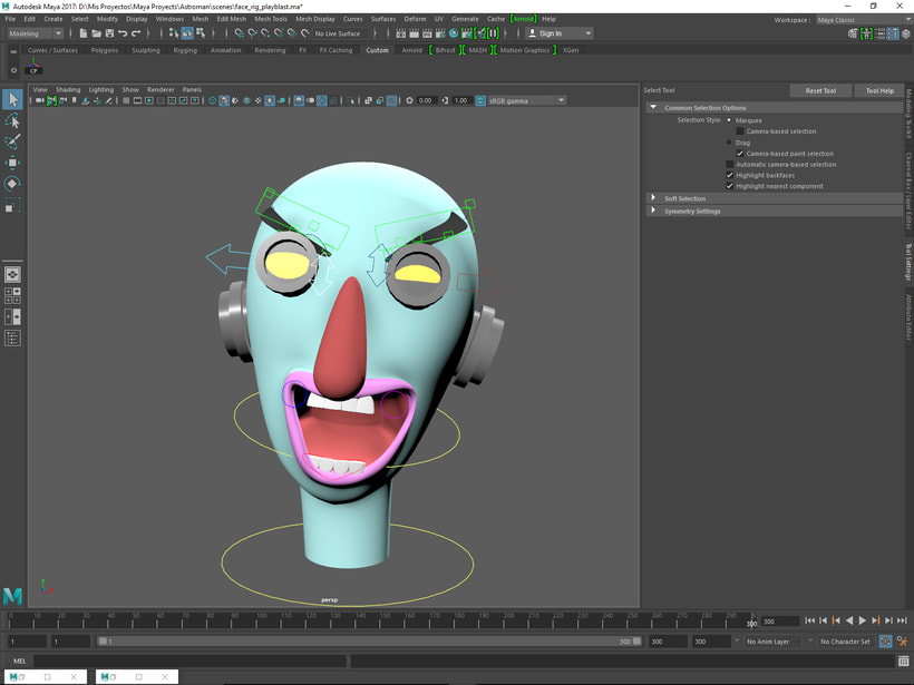 Mi Proyecto del curso: Rigging: articulación facial de un personaje 3D -1