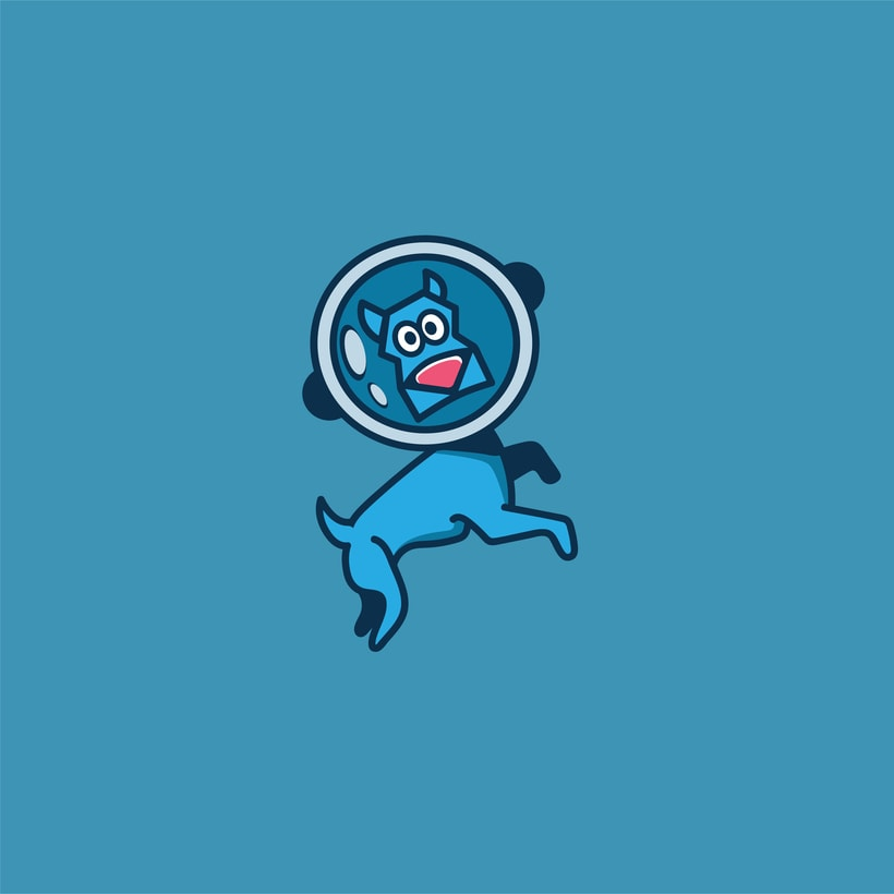 Space Dog | logo | ilustración  -1