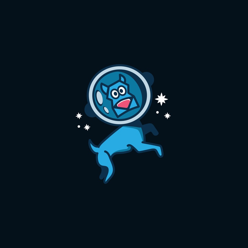 Space Dog | logo | ilustración  0